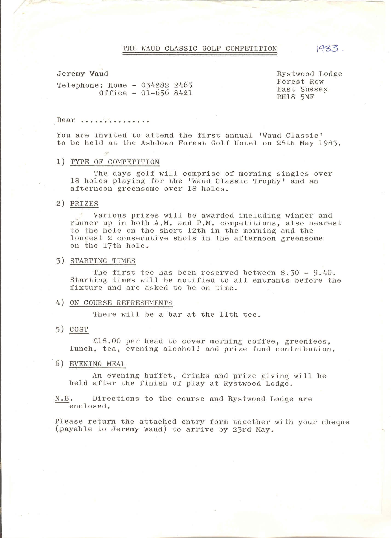 1983 Letter
